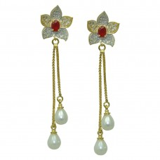 Designer Metal Dangle and Drop Earrings For Women and Girls