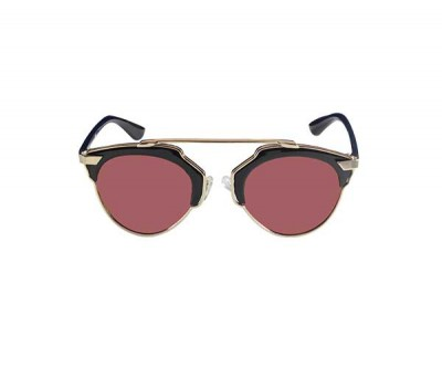 Oval  Sunglasses In Red Shades