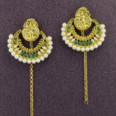 Gold Plated Antique Beaded Earrings