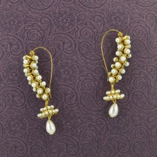 Gold Plated Stone Beaded Earrings