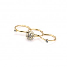 3-In-1 Rounded Stones Ring