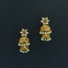 Gold Plated Jhumki In Double dome