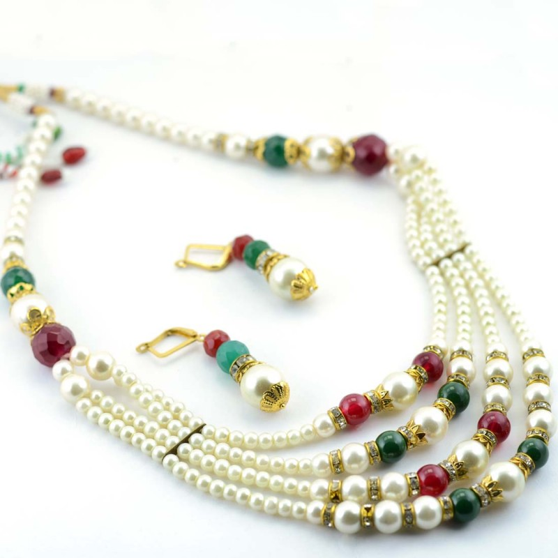 Pearls Beaded Necklace Set