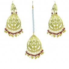Indian Traditional Maang Tikka With Earring Set