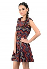 Multi Print Short Dress By Shipgig