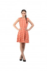 Orange Georgette Dress By Shipgig