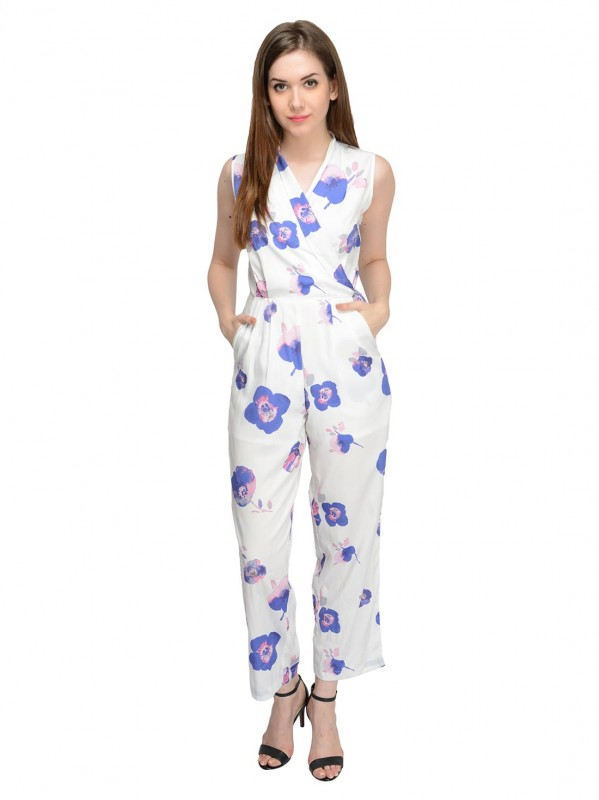 White Printed Jumpsuit For Women By Shipgig