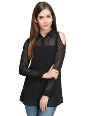 Black Full Sleeves Top By Shipgig