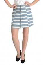 Striped Pattern Knee Length Skirt