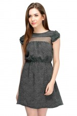Polka Doted Black Dress By Shipgig