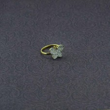 American Diamond Rings In Butterfly Style