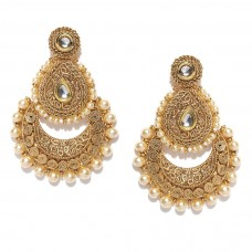 Beautiful Gold Plated Beaded Chandbalis