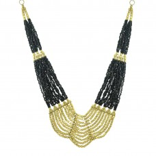 Designer Multicolor Pearls Neckpiece In Black  Color