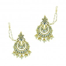 Gold Plated Chandbali With Multiple Drop Jhumki