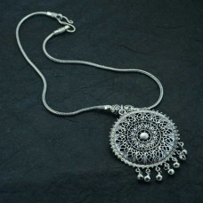 Silver  Plated Chain Pendant
