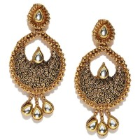 Gold-Plated Stone-Studded Chandbalis For Women