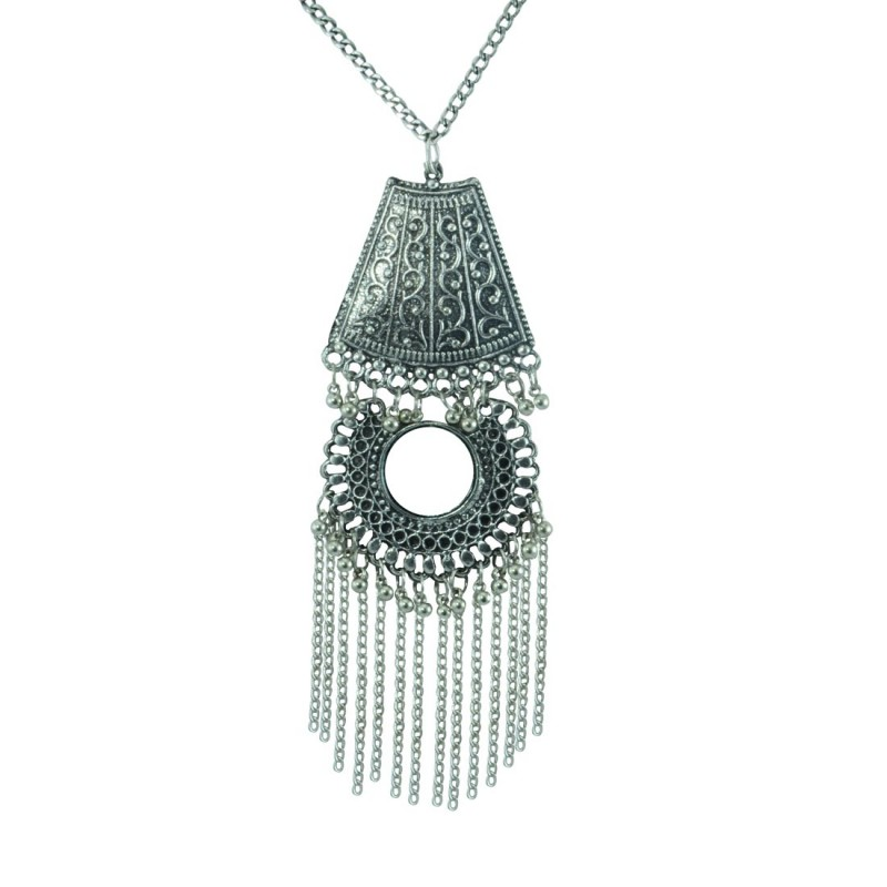 Designer Silver Plated Pendent For Women