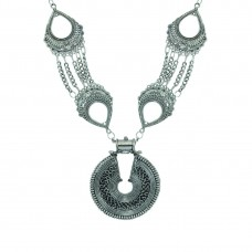 Designer Silver Plated Neckpiece for women