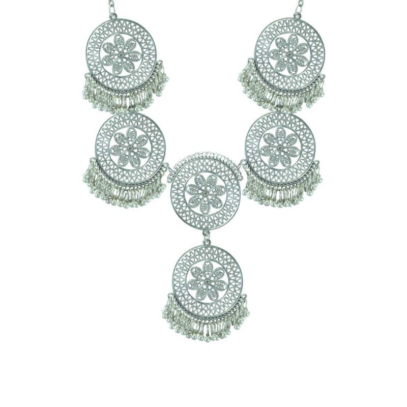 Silver Plated Neckpiece For Women_1013