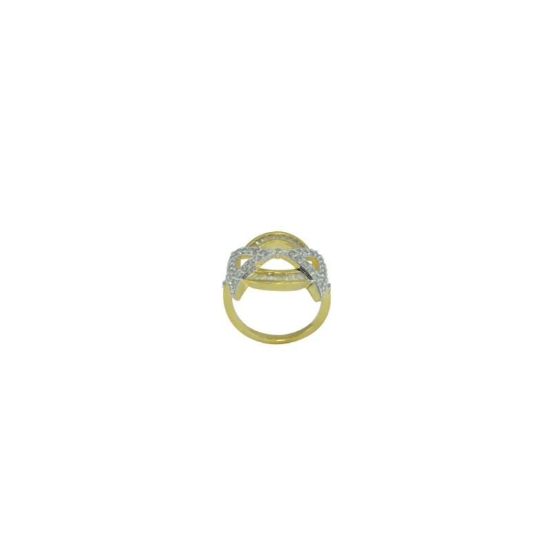 Designer Gold Plated AD Studded Ring For Women