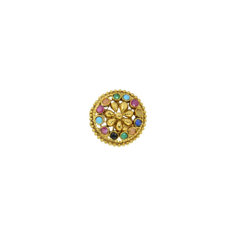 Multicolored Beaded Adjustable Ring For Women