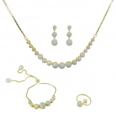 Designer Gold Plated Necklace Set Combo
