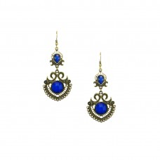 Designer Dangler Earring In Blue Color