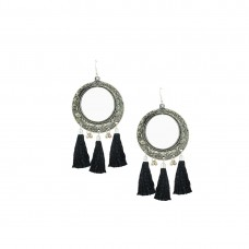Oxidized Mirror Dangler In Black Color