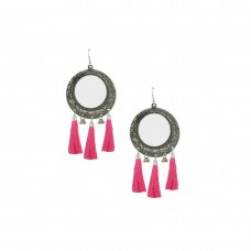 Oxidized Thread Dangler In Pink Color