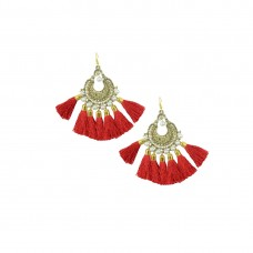 Designer Red Thread Chandbali
