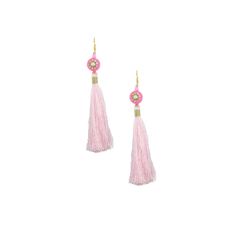 Stylish Thread Dangler In Pink Color