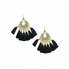 Designer Black Thread Chandbali