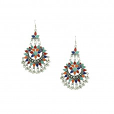 Oxidized Chandbalis Earrings In Multicolor