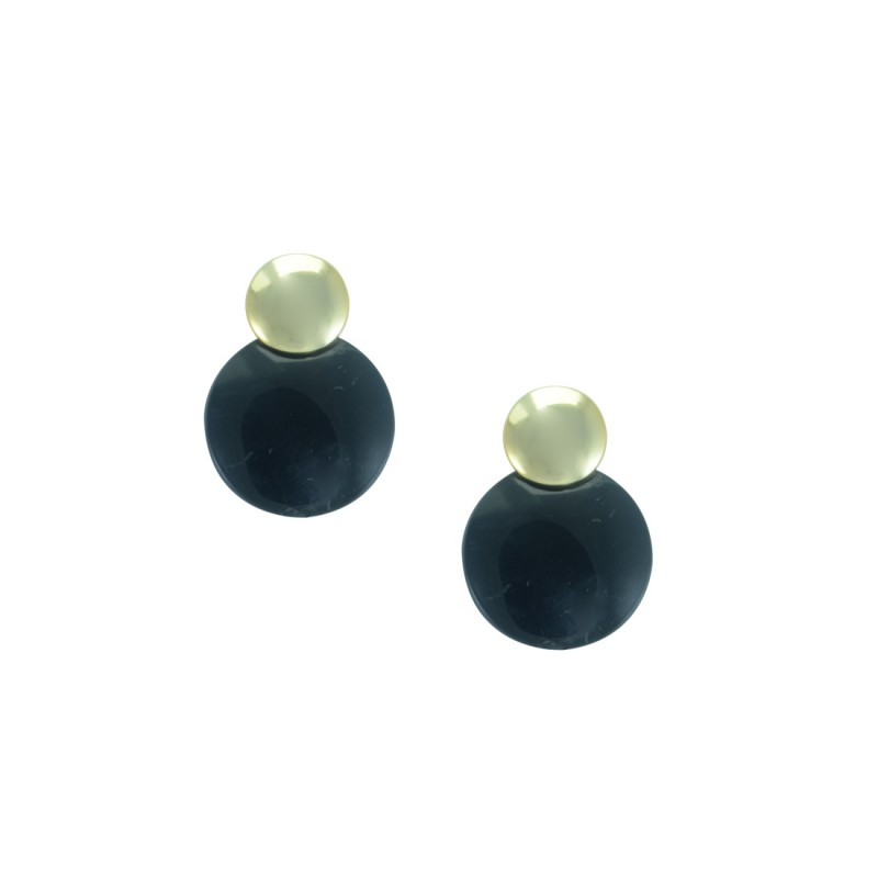 Designer Black And Golden Studs