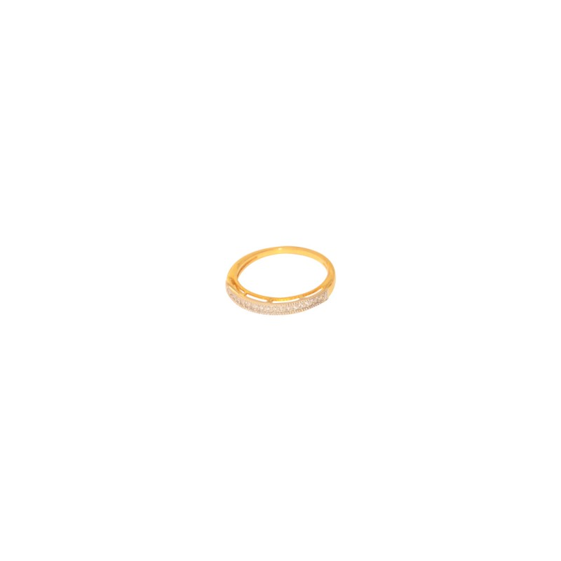Antique Gold plated AD Studded Ring for women's