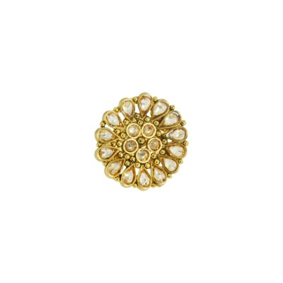 Gold Plated Stone Studded Ring