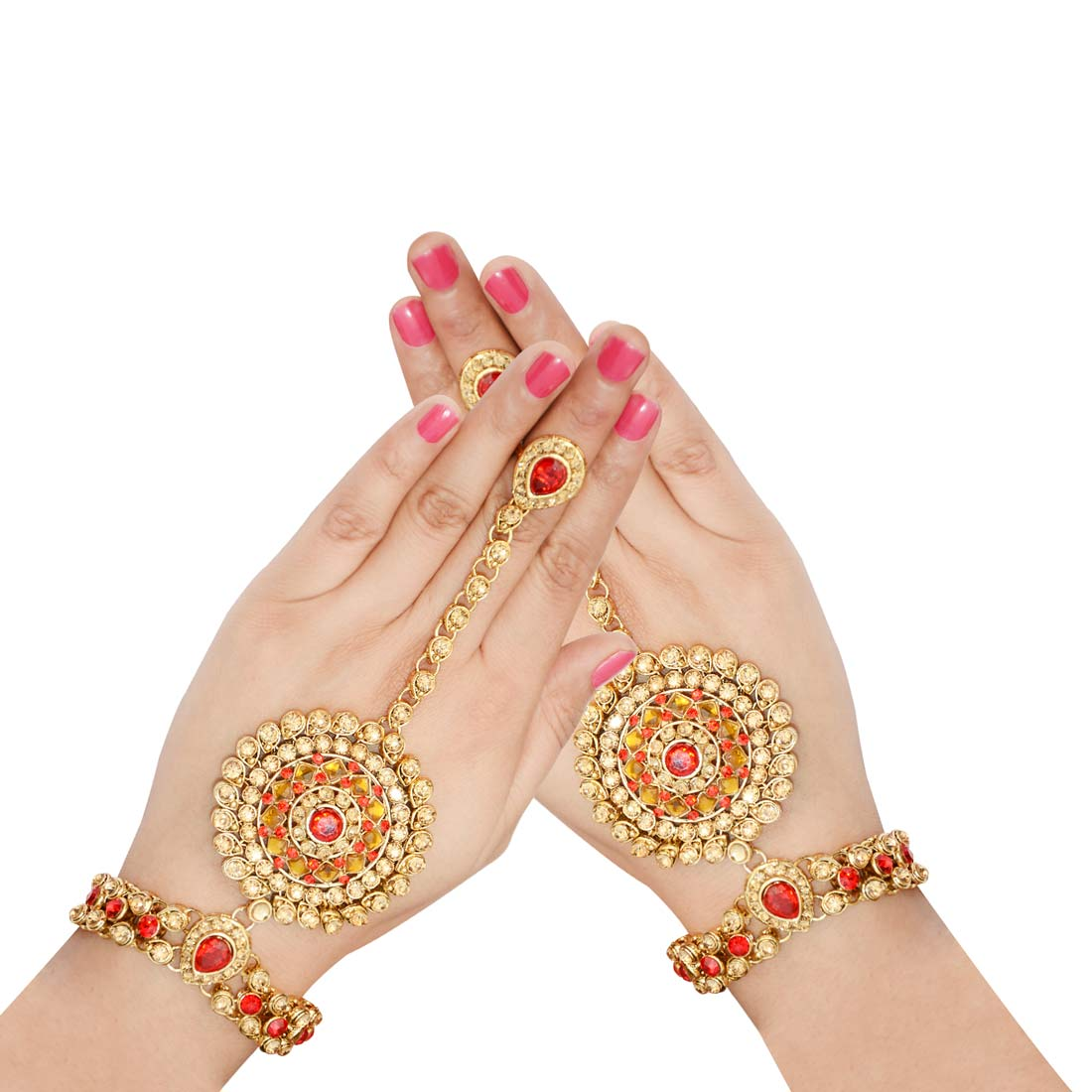 Designer Stone Studded Pair Haath Phool For Women