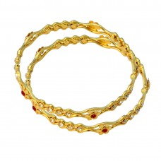 Designer Gold Plated Alloy Bangle Set