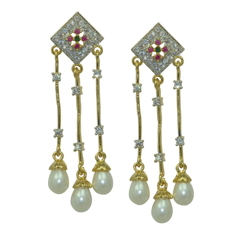Stylish Colorful Metal Dangler Earring For Women and Girls