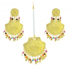 Beautiful Traditional Maang Tikka With Earring Set