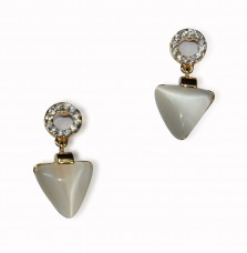 Triangular Shaped Crystal Stud Droplet Earrings