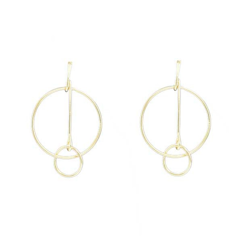 Circle Designer Dangler Earrings