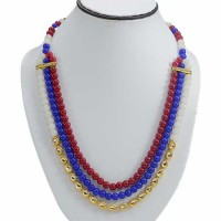 3 Layered Jaipuri Necklace
