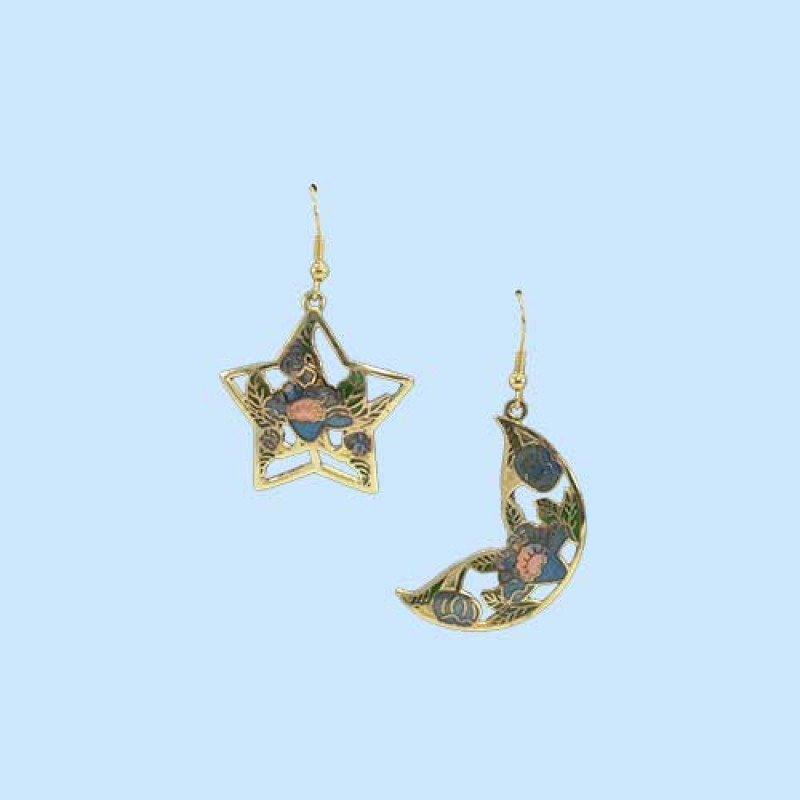 Star With Moon Stylish Earrings