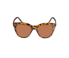 Brown Cat Eye Sunglasses in Animal Print