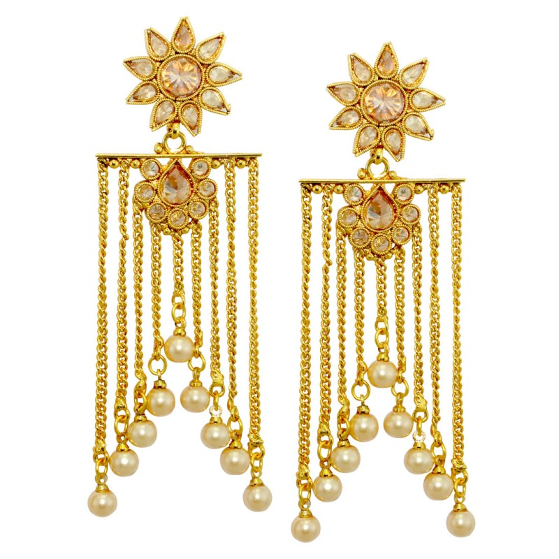 Designer Gold Plated Fancy Party Wear Danglers