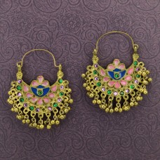 Oxidized Gold Toned Chandbalis