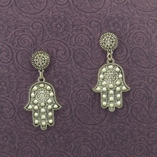 Stylish Hand Shaped Oxidized Earrings
