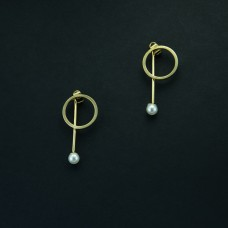 Pearl Dangled With Ring Dangler Earrings