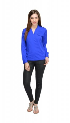 Solid Blue Top For Women By Shipgig